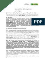 CHAMADA UNIVERSAL – MCTI-CNPq N 14-2013