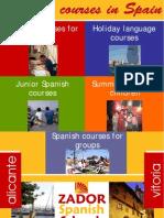 Spanish Courses Spain ZADOR 2009