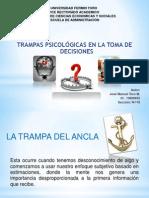 TRAMPAS PSICOLÓGICAS EN LA TOMA DE DECISIONES