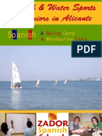 Spanish and Water Sports for Juniors in Alicante Spain