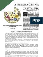 [Alchimie] Hermès Trismégiste - Table d'Emeraude ou Tabula Smaragdina