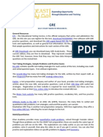 GRE Self-Study Resources