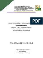 2  CONCEPTUALIZACIÓN Y POLÍTICA DEL MODELO DE