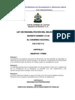 Ley de Rehabilitacion Del Delincuente (Actualizada-07)