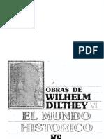 Dilthey Wilhelm_ Vivencia Expresion y Comprension en El Mundo Historico