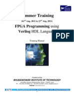Training Manual for Fpga Programming Using Verilog Hdl Language