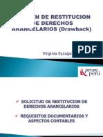 2012 11Beneficio Del Drawback o Restitucion de Derechos Arancelarios