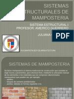 SISTEMAS ESTRUCTURALES DE MAMPOSTERIA