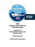 2009 Speedo Junior National Championships Event Information