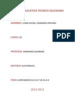 Informe Contadores, Lenin Rivera, Fernado Pintado,2D
