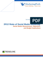 2012 State of Social Media Marketing