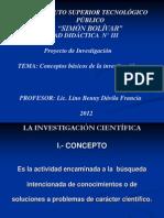 S.B. - LINO - INVESTIGACIÓN - I