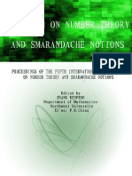 Proceedings of the Fifth International Conference on Number Theory and Smarandache Notions (Shangluo University, China, 2009), edited by Zhang Wenpeng
