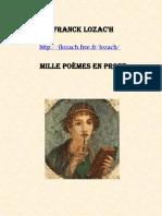 Franck Lozac'h Mille Poèmes en prose