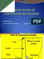 DISEÑO DE MURO DE CONTENCION EN VOLADIZO