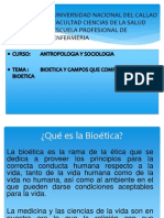 Bioetica y Los Campos ...(Antropologia y Sociologia)