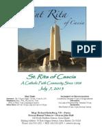 St. Rita Parish Bulletin 6/16/2013