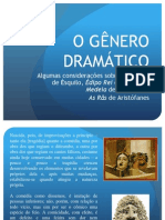 6 Gênero dramático