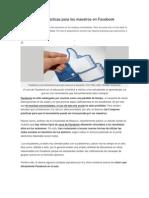 Las 5 mejores prácticas para los maestros en Facebook