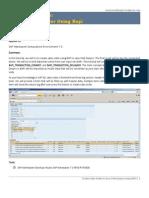 3.2.1 Create Sales Order in Java Web Dynpro Using BAPI