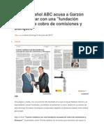 Diario español ABC acusa a Garzón de colaborar con una