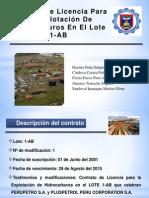 Contrato de licencia para la explotación de hidrocarburos