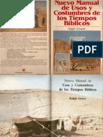 Ralph Gower Nuevo Manual de Usos y Constumbres de Tiempos Biblicos