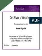 Tcps2 Core Certificate NShykoluk