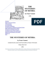 The Mysteries of Mithra - by Franz Cumont
