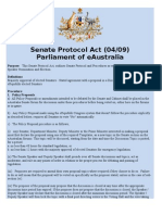 Senate Protocol Act (04/09)