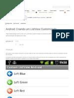 Android_ Criando Um ListView Customizado