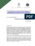 Conf - Politico - Koutoudjian - Lineamientos Estrategicos Para La Argentina