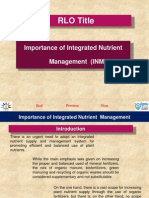 Importance of INM