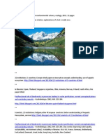 List of Useful Blog Posts on Environmental Science