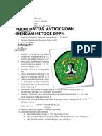 Tugas Farmakologi an Dengan Metode Dpph