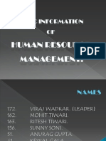 Introduction to Basic of Human Resource Management