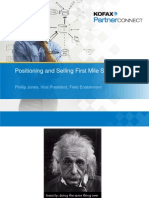 Positioning and Selling First Mile Solutions - Phillip Jones