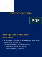 Bearing Capacity of Soil and Settlement Criterion