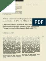 Analisis Comparativo de La Proogramacion Infantil