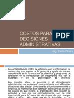 Costos Para Decisiones Administrativas