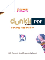 Dunkin Brands Corporate Social Responsibility Report (CSR) Redesign