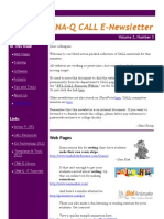 CALL Newsletter Volume 2 Number 3 November 2008