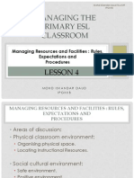 managing resources and facilities