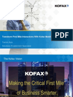 Transform First Mile Interactions With Kofax Mobile Capture