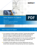 Kofax Analytics for Capture
