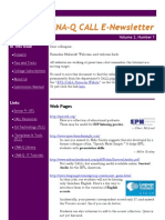 CALL Newsletter Volume 2 Number 1 September 2008