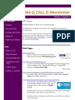 CALL Newsletter Volume 2 Number 1 September 2008