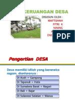 Pola Keruangan Desa