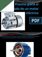 Proceso para el rebobinado de un motor eléctrico