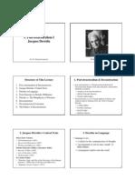 (DEBATE) Postestructuralismo - Derrida